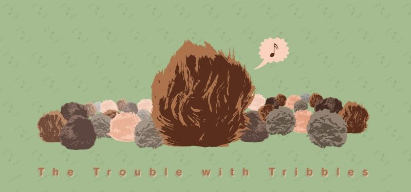 """Star Trek, """"The Trouble with Tribbles"""" illustration"""